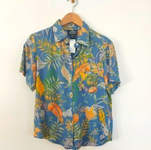NWT Angie Floral Button-down